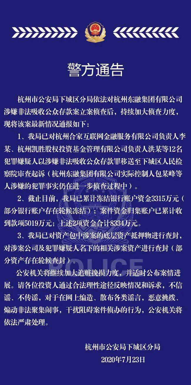 东融系非吸案12人移送审查起诉:P2P合家金融负责人在列